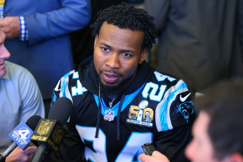 NFL: FEB 03 Super Bowl 50 - Panthers Press Conference